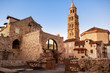 Scene from the old city of Split and the view of old bell tower - 69031904