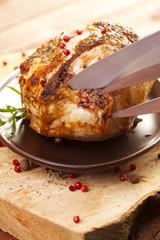 Marinated roast ham