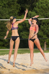 Female Beach Volleyball Players