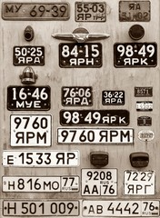 background of old car numbers