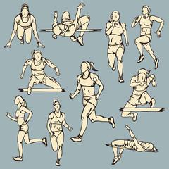 Female Runner Sport Illustration