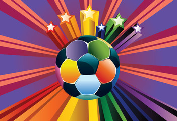 Soccer Ball with Stars