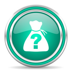 riddle green glossy web icon