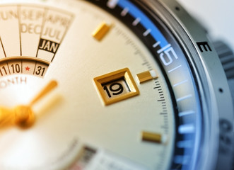 Luxury watch closeup