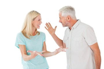 Unhappy couple having an argument