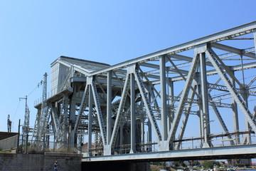 Pont métallique à Séte