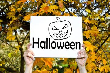 Schild Halloween