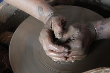 Tournage d'une céramique