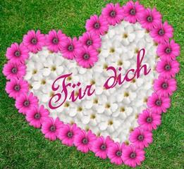 Blumenherz für dich