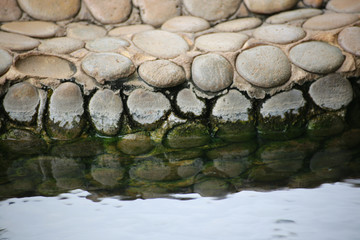 rock's reflect in the water