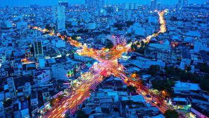 Amazing panaromic of Asia city
