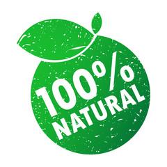 100% natural wektor