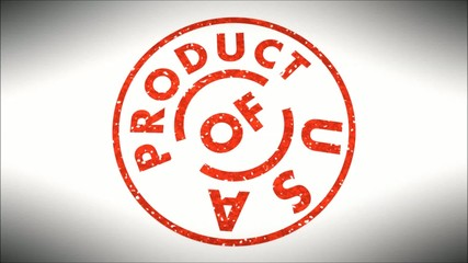 Product of U S A
