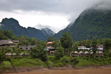 Nong Khiaw village in Laos