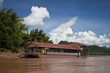 Houseboat on Mekong, Laos