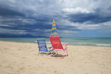maltempo: spiagge vuote