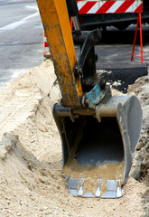roadworks for the laying of underground cables