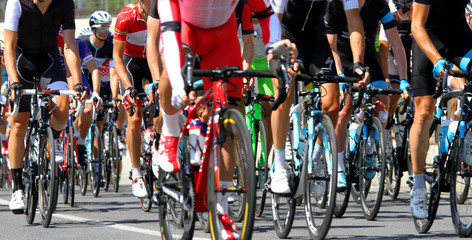 cyclists involved in a cycling race