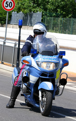 police motorcycles and the policeman