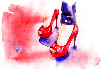 Background with shoes