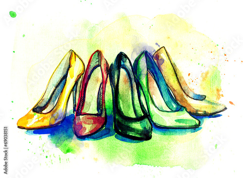 Background with shoes - 69038151
