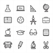 Flat Line Icons For Education Icons and School Icons