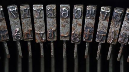 Typebars closeup