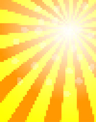 Sun pixel background