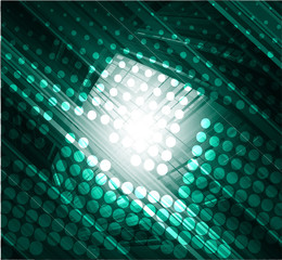 Dark green abstract technology background