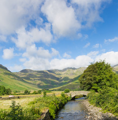 Beautiful Lake District river Mickleden Beck Langdale Valley