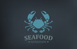 Seafood Restaurant Logo vector design. Crab Logotype - 69038922