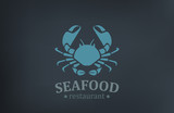 Seafood Restaurant Logo vector design. Crab Logotype