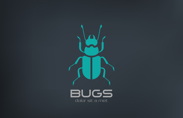 Bug Logo abstract vector design. Insect Logotype