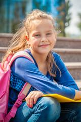 Portrait of a sweet basic school girl