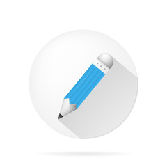vector icon for blog. Blue pencil.