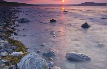 Sunrise on the Barents sea, Russia