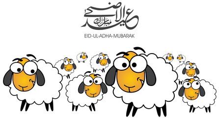 Eid Al-Adha, Eid Mubarak, sheeps