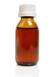 Liquid medicine in glass bottle isolated on white - 69040169