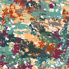 Паттерн из мазков масляной краской