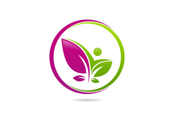 Natural Beauty Pose Logo