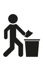 Mülleimer benutzen