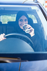Arabic Businesswoman In Car