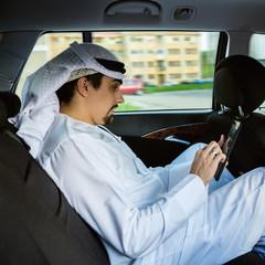 Arabian Businessman In Car
