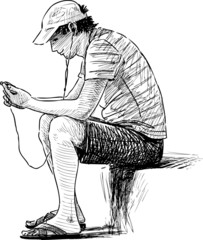 young man with the mobile phone