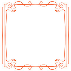 Vector frame. Element for design in retro style
