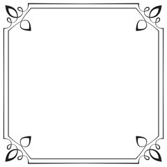 frame. Element for design in retro style
