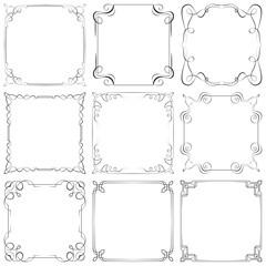 Set of different vector decorative frames