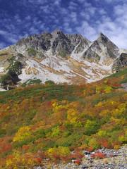 紅葉の涸沢岳