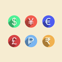 Flat icons for moneymaker