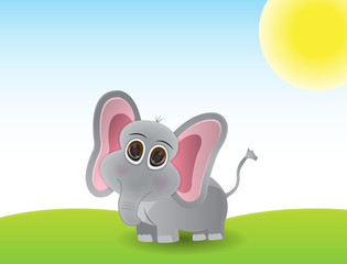 Cute little elephant cartoon
